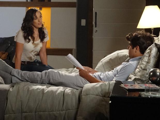 Patrícia quer tentar ter outro filho com Antenor (Foto: Fina Estampa / TV Globo)
