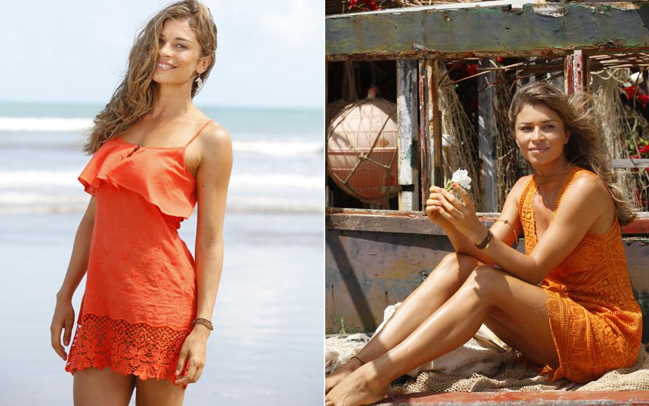 Os vestidos de renda usados por Ester levam em média três meses para ficarem prontos, já que são feitos artesanalmente