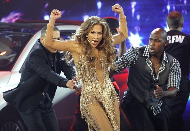 Jennifer Lopez no American Music Awards em Los Angeles, nos Estados Unidos (Foto: Reuters/ Agência)