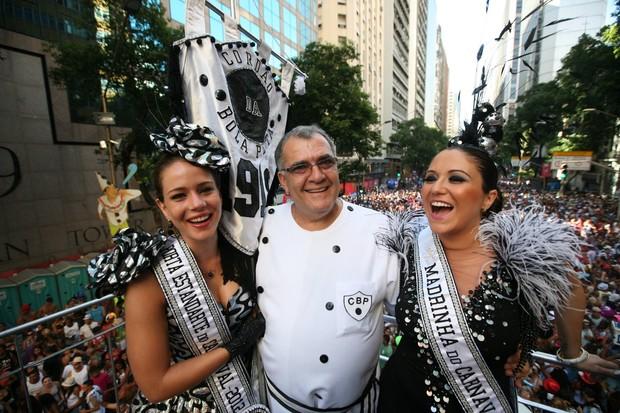 Leandra Leal e Maria Rita no Desfile do Cordão da Bola Preta (Foto: André Muzell / AlexPalarea/ AgNews)