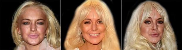 Video mostra envelhecimento de Lindsay ao longo dos anos (Foto: YouTube / Reprodução)