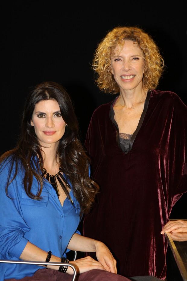 Isabela Fiorentino dá entrevista para Marília Gabriela para seu programa no SBT (Foto: Carol Soares / SBT)