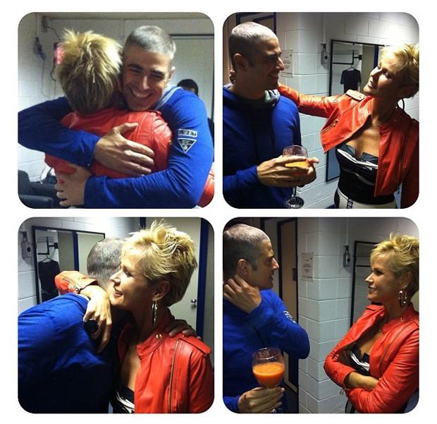 Xuxa encontra Reynaldo Gianecchini (Foto: Instagram / Reprodução)