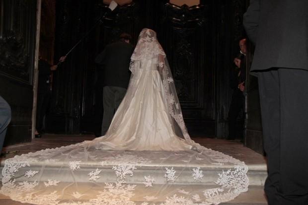 Roberta, noiva de Marcelo Serrado (Foto: Isac Luz/ EGO)