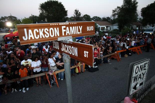 Homenagem a Michael Jackson, em Gary, em Indiana, nos Estados Unidos (Foto: AFP/ Agência)
