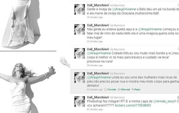 Twitter fake de Val Marchiori (Foto: Reprodução/ Twitter)