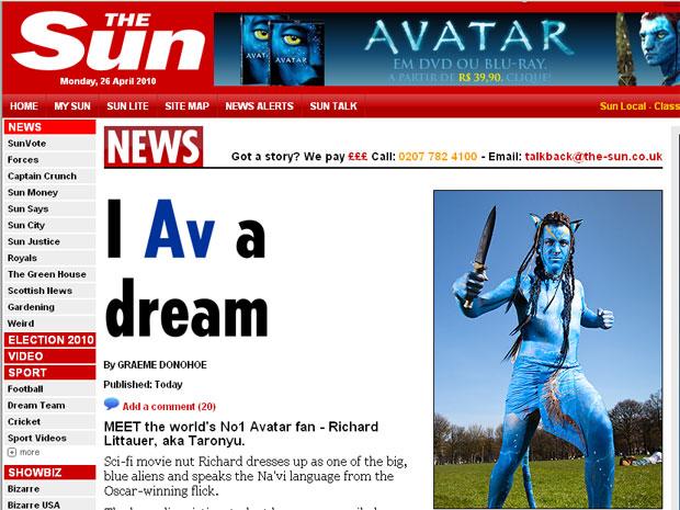 Richard Littauer assistiu ao filme 'Avatar' 17 vezes