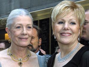 Vanessa e Lynn Redgrave na festa annual de um prêmio para teatro em Nova York