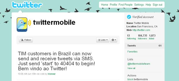 Perfil no Twitter destacou novidade para usuários de operadora brasileira.