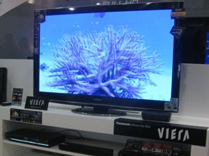 VT25 de 50 polegadas da Panasonic está em exposição na loja conceito da marca em shopping de SP