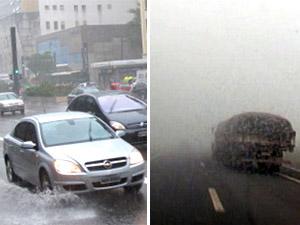 chuva e neblina (Foto: G1/Globo News)