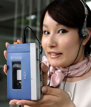 Walkman para fitas cassete