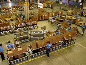 Centro de distribuição de peças da GM em Sorocaba (SP)