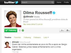 Twitter Dilma Rio
