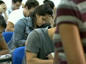 Candidatos fizeram a primeira fase da Fuvest em 28 de novembro (Foto: TV Globo/Reprodução)