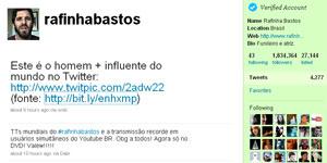 Twitter do comediante Rafinha Bastos (Foto: Reprodução/Twitter)