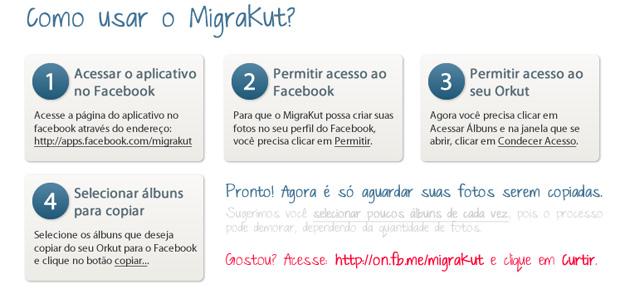 Passo a passo para transferir fotos e álbunsn do Orkut para o Facebook (Foto: Reprodução)