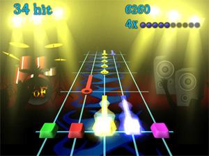 Uma placa de vídeo 3D simples é suficiente para rodar este clone de 'Guitar Hero' (Foto: Reprodução)