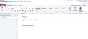 O OneNote é um dos programas disponíveis no Office Web Apps