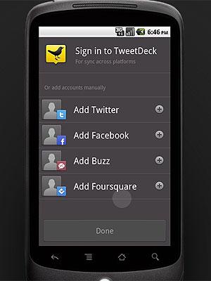 O TweetDeck já está disponível para celulares com Android (Foto: Reprodução)