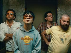 Stu e companheiros em cena do novo 'Se beber, não case!' (Foto: Divulgação)