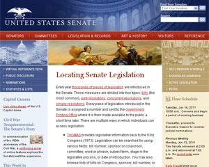 Site do Senado dos EUA foi atacado por hackers no final de semana (Foto: Reprodução)