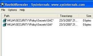 RootkitRevealer, um dos softwares feitos especificamente para o combate aos rootkits (Foto: Reprodução)