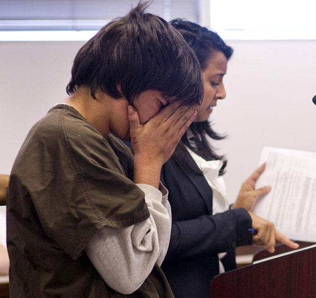 Jared Cano, de 17 anos, foi levado à corte nesta quarta-feira (17) (Foto: Cherie Diez/St. Petersburg Times/Reuters)