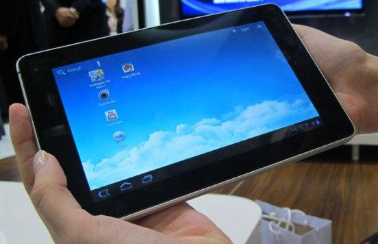 Tablet de 7 polegadas roda o sistema operacional Android 3.2 (Foto: Laura Brentano/G1)