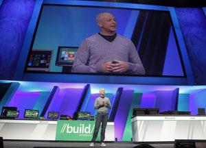 Steven Sinofsky, presidente da divisão Windows em apresentação do novo sistema operacional da Microsoft, revela números de vendas do Windows 7