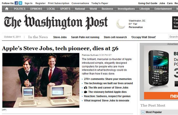 Steve Jobs Washington Post (Foto: Reprodução)