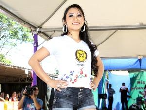 Kettryllen Oshiro venceu o concurso de Miss Primavera no presídio de Campo Grande (Foto: Divulgação/governo de MS)