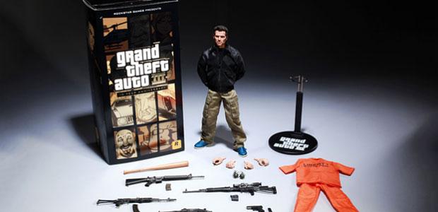 Boneco do personagem de 'GTA III' será vendido por US$ 150 (Foto: Divulgação)