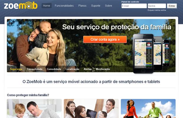 Página da Zoe Mob, startup que recebeu investimentos do Anjos do Brasil (Foto: Reprodução)