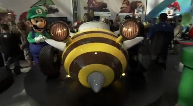 Carro Bumble Bee, no formato de abelha, usado no game (Foto: Reprodução)