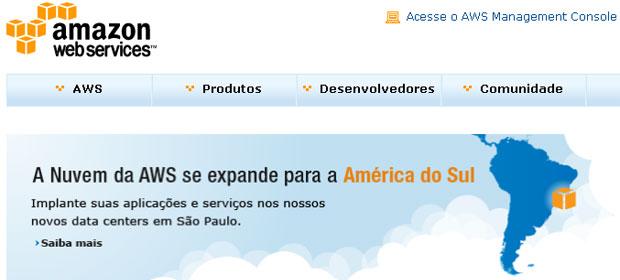 Amazon lançou seus data centers em São Paulo para clientes da América do Sul (Foto: Reprodução)