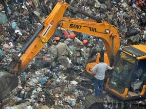 Encontrado corpo de garoto soterrado no lixão de Campo Grande, MS (Foto: Tatiane Queiroz/G1 MS)