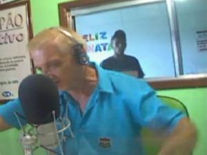 Assalto à rádio comunitária em Canoas, RS (Foto: Reprodução / CS Rádio FM)