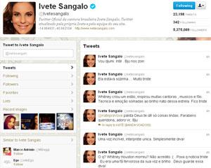 Ivete Sangalo lamentou a morte de Whitney Houston no Twitter (Foto: Reprodução)