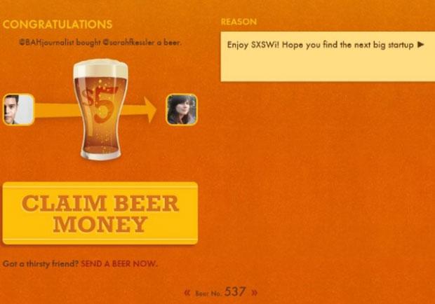 Serviço permite pagar US$ 5 por cerveja; dinheiro é enviado para amigos (Foto: Divulgação)