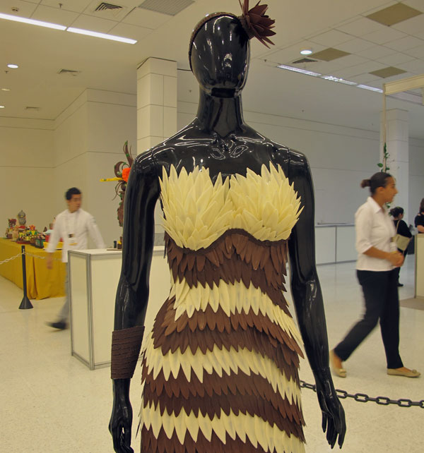 Vestidos de chocolate, Expo Brasil Chocolate, Sweet Amado
