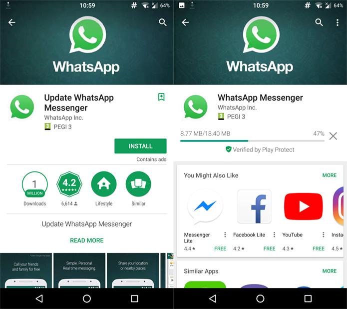 2eb7ac9d d1c0 490f 948e e86077e53ed7 whatsappfake - WhatsApp falso no Google Play foi baixado mais de um milhão de vezes