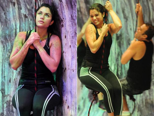Após seis horas de resistência, Maria ganha a primeira das três da provas que ue serão realizadas pela última liderança do  BBB (Foto: TV Globo / Frederico Rozário)