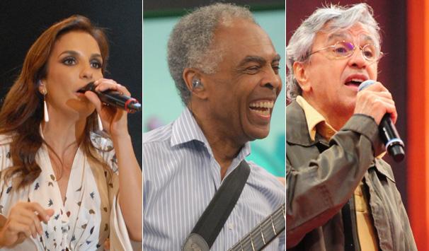 Ivete, Gil e Caetano (Foto: Divulgação TV Globo)