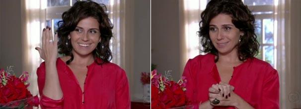 O segundo lugar foi de Cláudia e seu esmalte marrom (Foto: Divulgação/TV Globo)