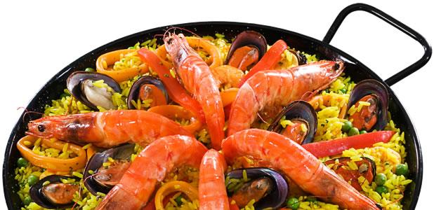 Paella Fcil  Peixes e frutos do mar  Paella  Receitas