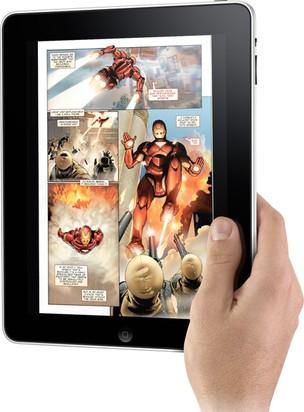 Leitura pelo tablet (Foto: Reprodução)