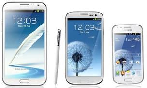 Projeção do Galaxy S3 Mini, ao lado dos irmãos Note 2 e S3 (Foto: Reprodução) (Foto: Projeção do Galaxy S3 Mini, ao lado dos irmãos Note 2 e S3 (Foto: Reprodução))