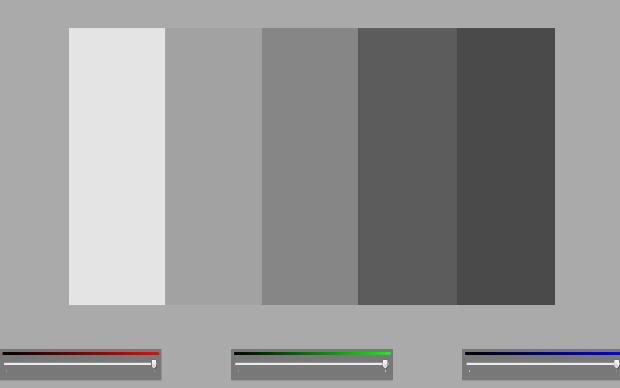 Seletor RGB exige que você volte a trabalhar com o mouse do computador (Foto: Reprodução/Fox Xavier)