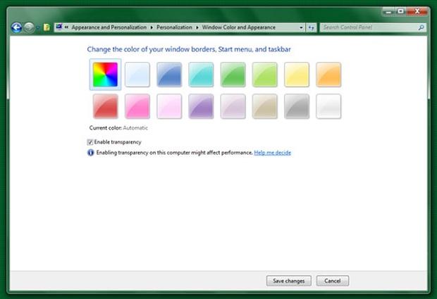 Cores no Windows 8 (Foto: Reprodução)